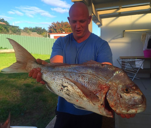 All nighter at Kalbarri cliffs catches awesome Pink Snapper