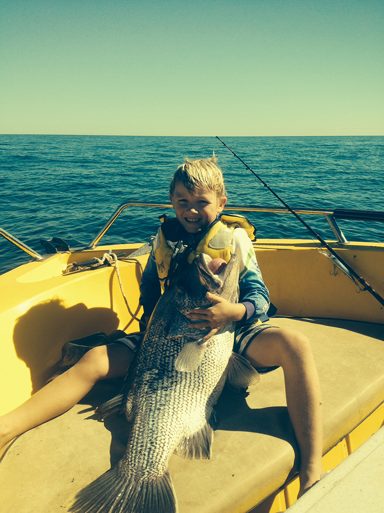 11kg Dhufish caught off Dongara by 9yr old Ewan
